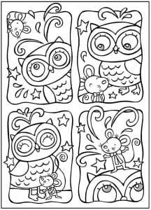 сова раскраска (53)