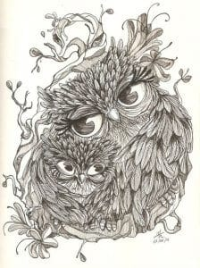 сова раскраска (532)