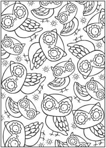 сова раскраска (55)