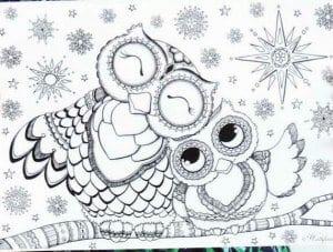 сова раскраска (550)