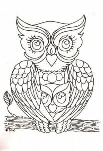 сова раскраска (56)