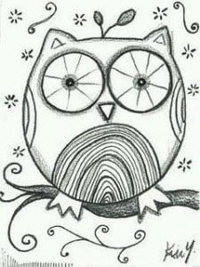 сова раскраска (569)