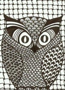 сова раскраска (586)