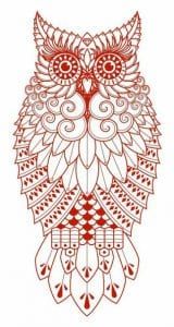 сова раскраска (61)