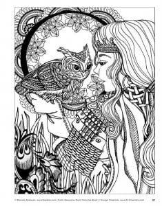 сова раскраска (615)