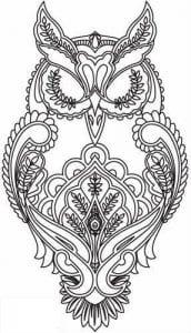 сова раскраска (62)
