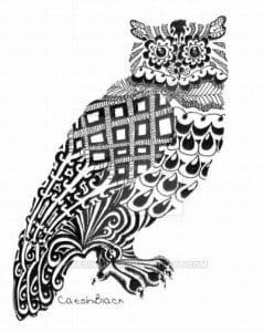сова раскраска (63)