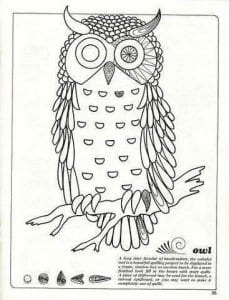 сова раскраска (66)