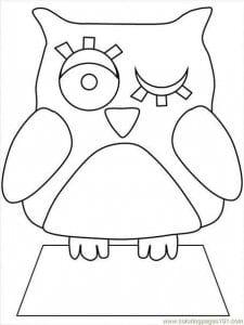 сова раскраска (68)