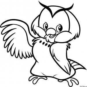 сова раскраска (76)