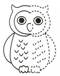 сова раскраска (90)