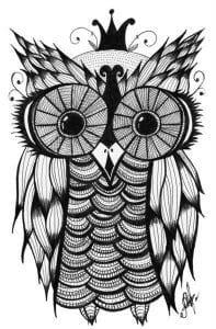 сова раскраска (91)