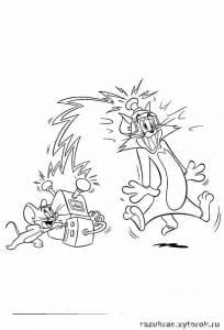 tom-i-dzherri-kartinki-raskraski-204x300 Том и Джерри