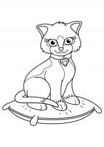 взрослых кошки раскраски для