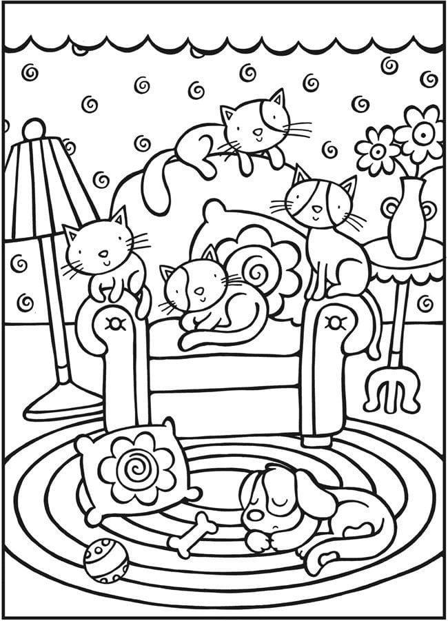 женщина кошка раскраска - Рисовака