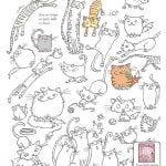животные кошки раскраски антистресс