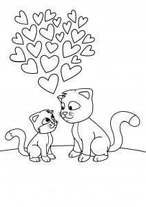 животные кошки раскраски домашние
