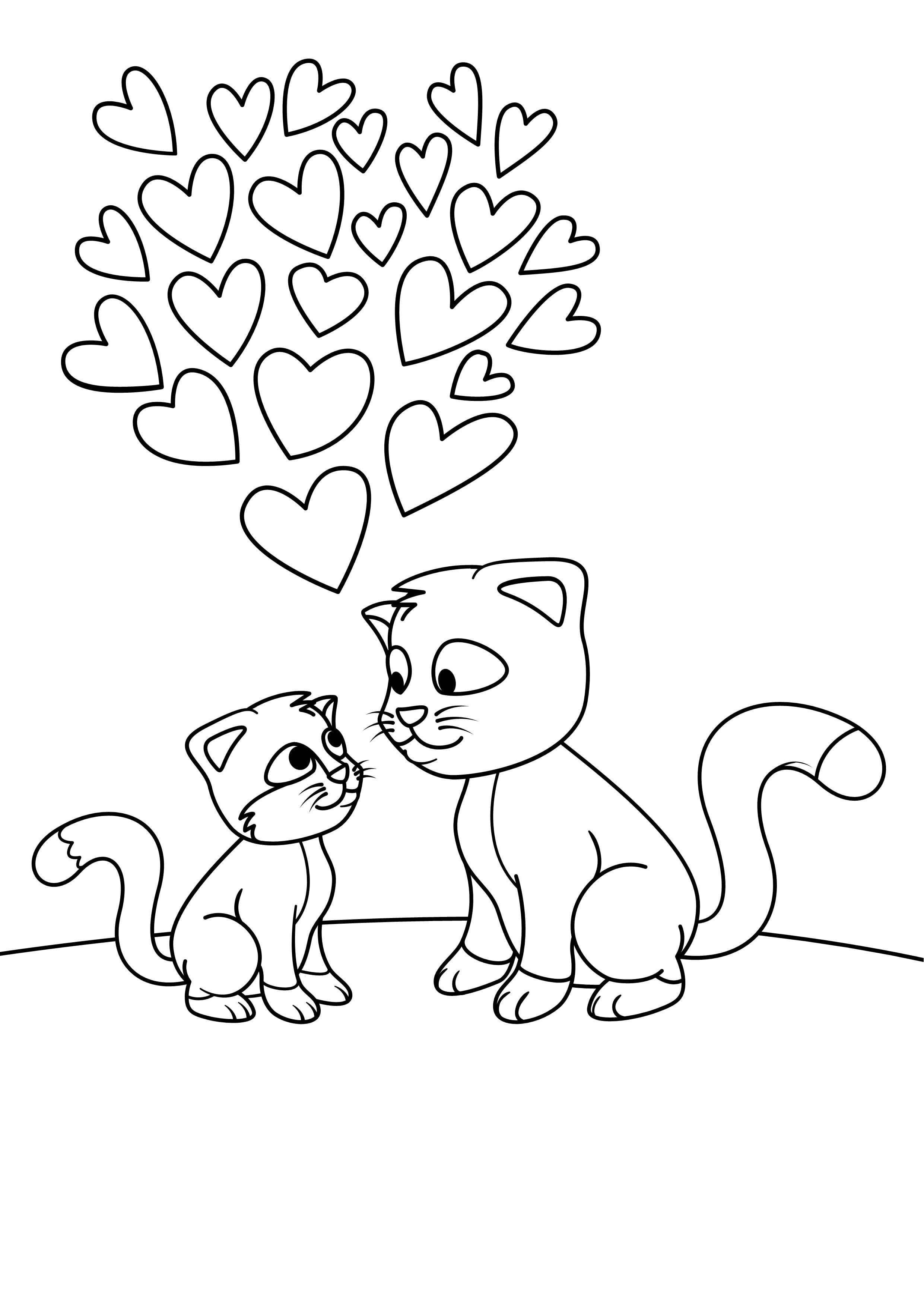 животные кошки раскраски домашние рисовака