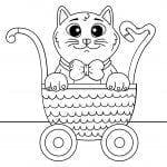 животные кошки раскраски