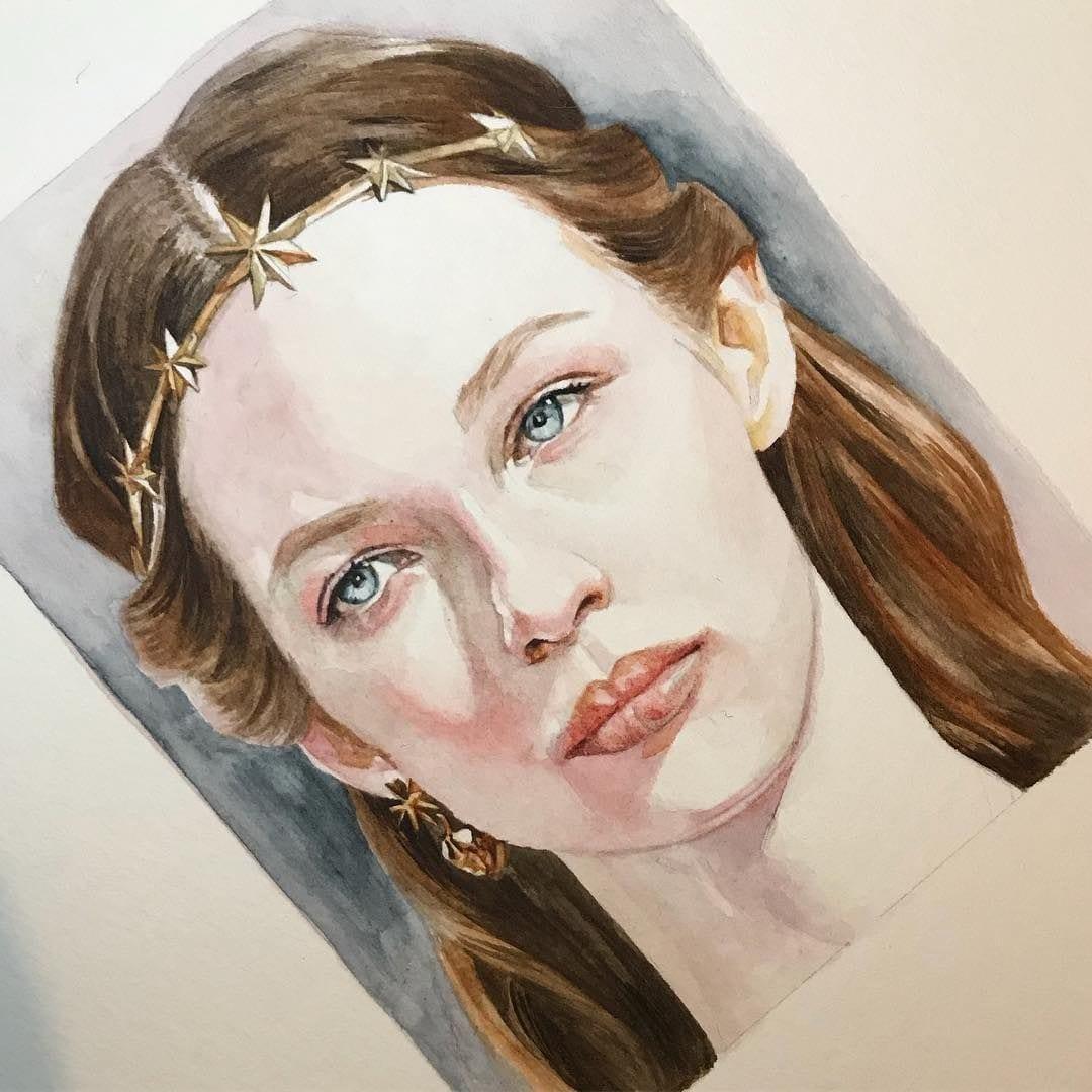 -головы-акварель Рисование головы с натуры
