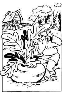 герои русских сказок раскраска (65)