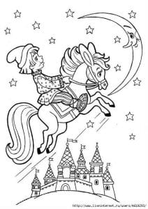 герои русских сказок раскраска (86)