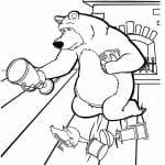 детские раскраски для девочек маша и медведь