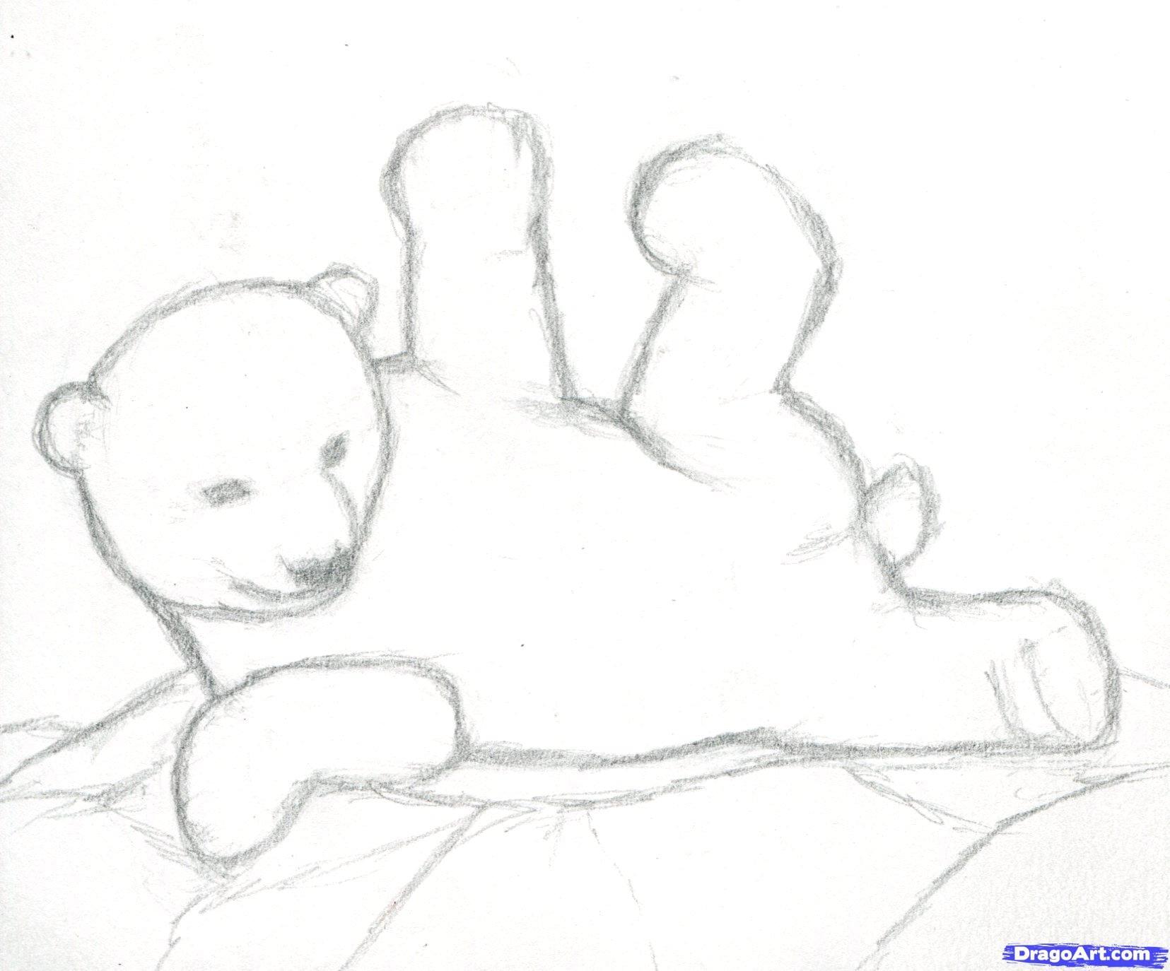 3 Как нарисовать полярного медведя