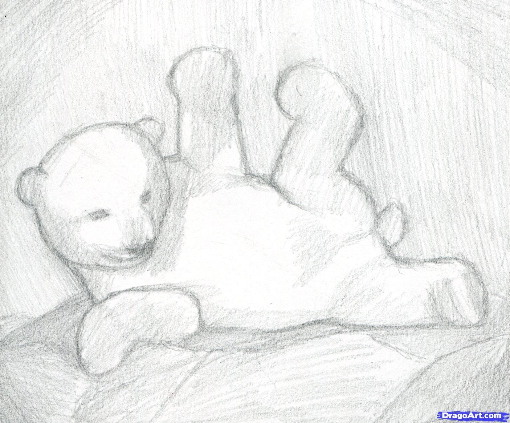 6 Как нарисовать полярного медведя