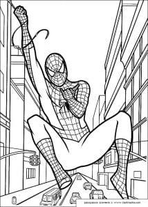 картинки раскраски человек паук для мальчиков распечатать