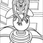 напечатать раскраску человек паук