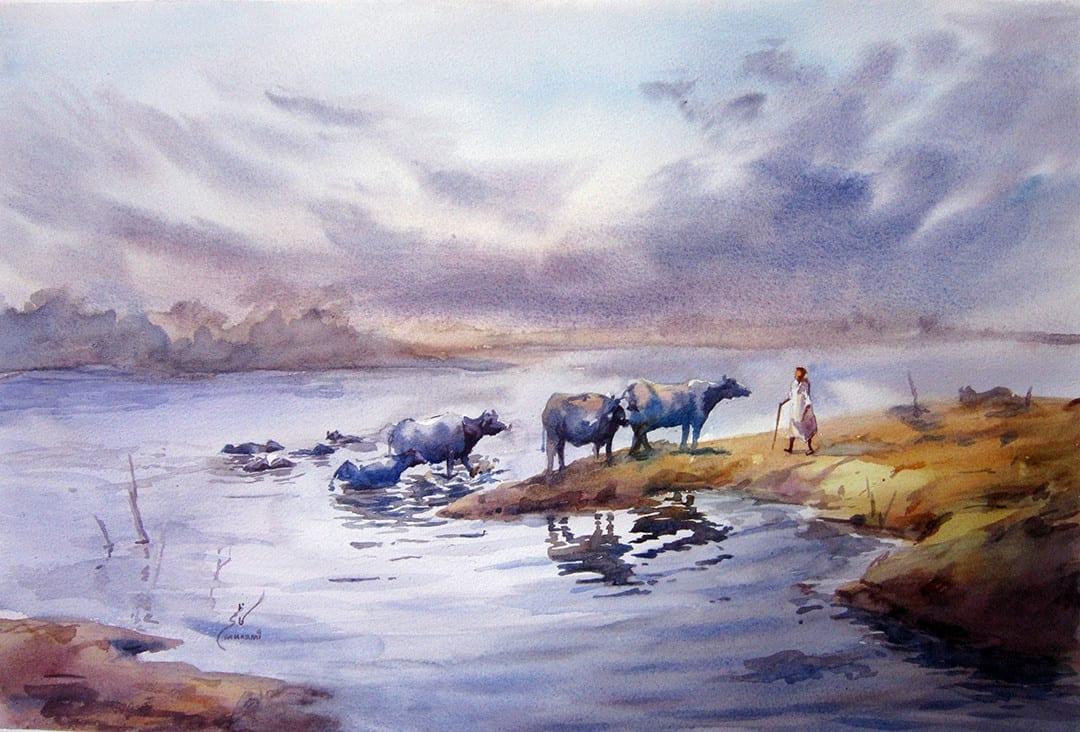 Как рисовать пейзаж