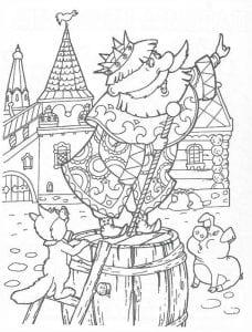 раскраска Царевна Несмеяна (2)