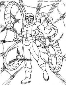 раскраска для мальчиков человек паук распечатать
