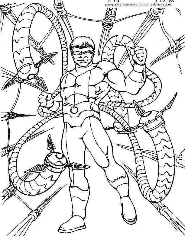 раскраска для мальчиков человек паук распечатать - Рисовака