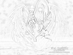 раскраска знак зодиака Близнецы 5