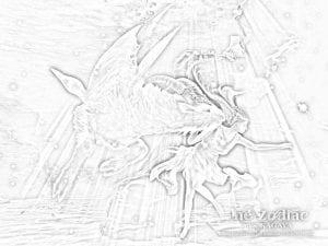 раскраска знак зодиака Козерог 2