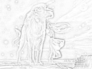 раскраска знак зодиака Лев 3