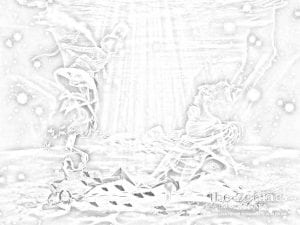 раскраска знак зодиака Стрелец 4