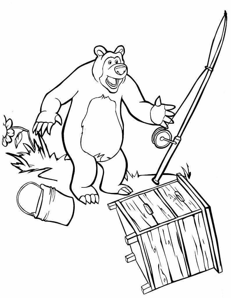 раскраски для девочек маша и медведь бесплатно