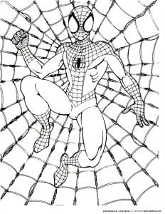 раскраски для мальчиков бесплатно человек паук