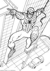 раскраски для мальчиков про человека паука
