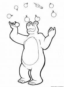 раскраски маша и медведь распечатать бесплатно а4