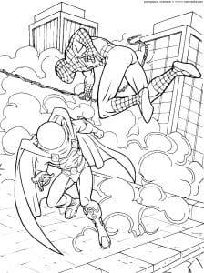 раскраски человек паук раскрасить
