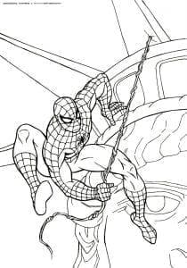 раскраски человек паук распечатать бесплатно новые