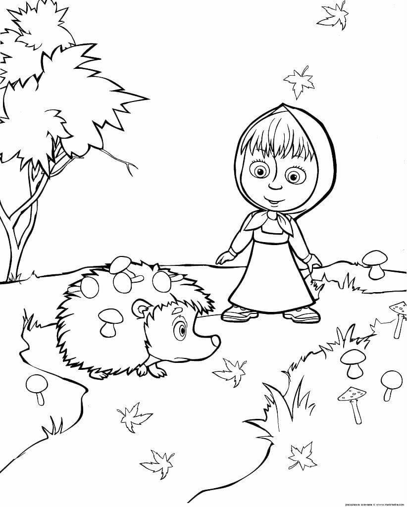 раскраски 4 лет маша и медведь - Рисовака