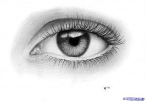 11-1-300x210 Как нарисовать глаза человека карандашом поэтапно