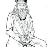 Альбус Дамблдор раскраска