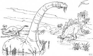Брахиозавр раскраска