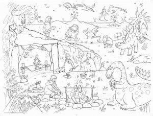 Динозавры раскраска